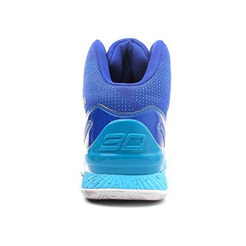 Man Basketbalschoen, Maakt Springen Hoog Qzbeita Comfortabel Ademende Schoen Hemelsblauw