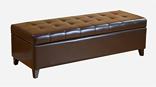 leather bench with storage - 5