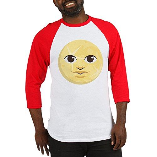 CafePress Yellow Moon Emoji - Cotton Baseball Jersey, 3/4 Raglan Sleeve (Moon Baseball Jersey)