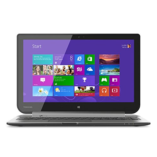 Toshiba W35DT-A3300 Satellite Click 2-in-1 13-Inch Touch-Screen Laptop (4GB Memory, 500GB Hard Drive) Ultimate Silver ()