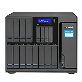 """QNAP TS-1685-D1531-64G-US 12 Bay High-Capacity 10GbE iSCSI NAS 94 Intel Xeon D1531 6-core 2.2GHz, 64 RAM (MAX 128 GB), 12x3.5""""/2.5"""" SATA 6G HDD/SSD + 4x2.5"""" SATA 6G SSD, 6xM.2 2242/2260/2280/22110 SATA 6G SSD NAS and iSCSI-SAN unified storage solution ; Built-in M.2 SATA 6Gb/s slots & 2.5"""" SSD slots Tier technology and SSD caching enable 24/7 optimized storage efficiency ; 10GbE/40GbE-ready, highly-efficient storage solution for virtualization and intensive data transmission"""
