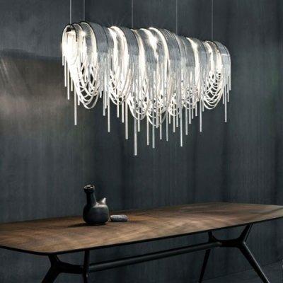 hua Designer Lighting Chain Hanging Large Linear Pendant
