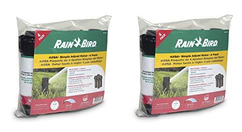 Rain Bird 42SA+/4PK Simple Adjust Gear Drive Rotor, Adjustable 40° - 360° Pattern, 26' - 38' Spray Distance (2 X Pack of 4)