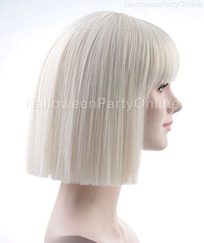 Halloween Party Online SIA Blonde Wig Costume Cosplay Idea HW 134