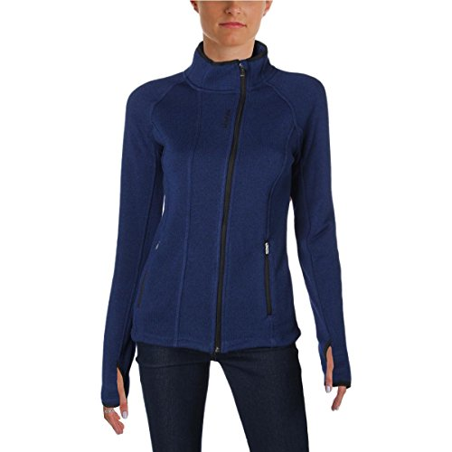 Reebok Womens Sky High Alpine Fleece Lined Thumb Holes Jacket Blue XS - Alpine Fleece Jacket