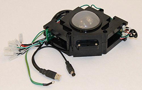 Track Ball 3 inch Arcade Game Trackball for PC or MAC USB, PS2 and Jamma + Mame systems