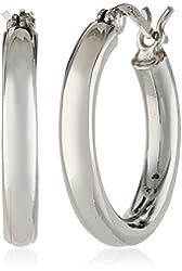 Sterling Silver 3mm Round Tube Hoop Earrings