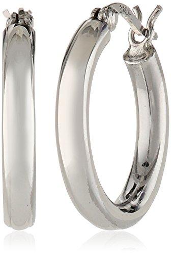 """Sterling Silver 3mm Hoop Earrings (0.7"""" Diameter)"""