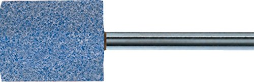 "PFERD 30169 Vitrified Bond Mounted Point, Ceramic Oxide, Shape W220, 1"" Diameter x 1"" Length, 1/4"" Shank, 25500 RPM, 46 Grit (Pack of 10)"