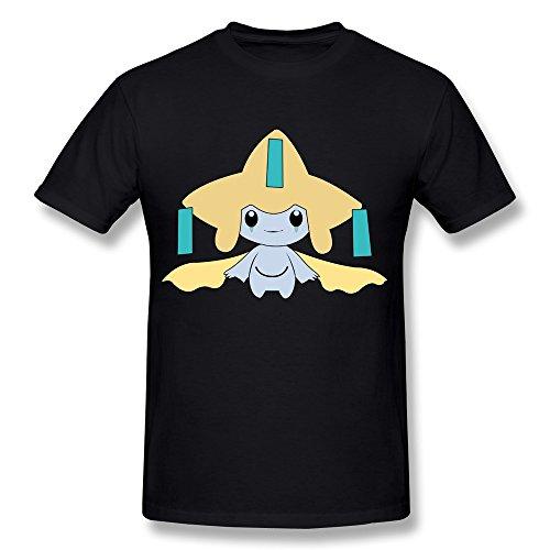 FENGTING Men's Jirachi Pokemon T-shirt XXL Black Tee