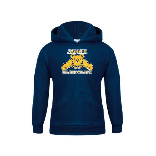 CollegeFanGear North Carolina A/&T Youth Navy Fleece Hoodie Basketball