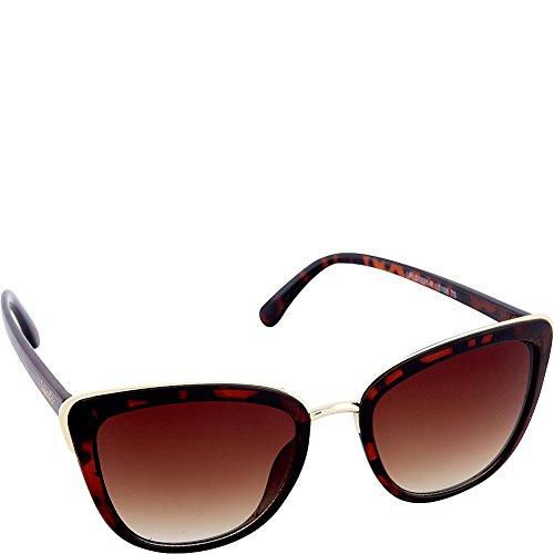 Nanette by Nanette Lepore Women's Ls108 Ts Cateye Sunglasses, Tortoise, 55 - Nanette Lepore Sunglasses