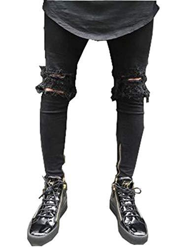 Fit Blue Uomo Pantaloni Casual Ssig C Morbidi Moderna Jeans Elastici Fashion Comodi Dritti Alti Slim Da Cotton IS8gxqB