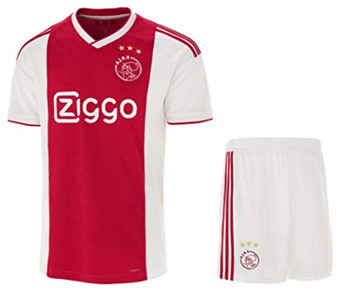 b70de580bf2 Amazon.com   ZZXYSY Ajax Men s Home Soccer Jersey Short Colour Red White    Sports   Outdoors