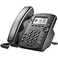 Polycom VVX 301 Corded Business Media Phone System - 6 Line PoE - 2200-48300-025 - AC Adapter (Not Included)