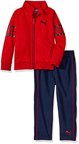 Puma Tricot Pant (PUMA Toddler Boys' Two Piece Track Set, Deep Navy, 3T)