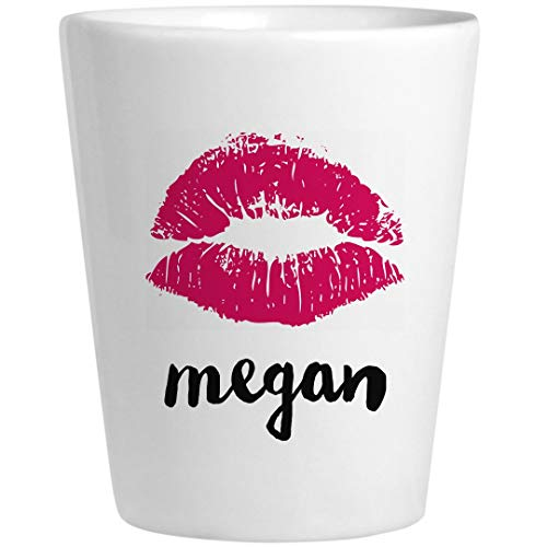 Megan Birthday Kiss Gift: Ceramic Shot Glass