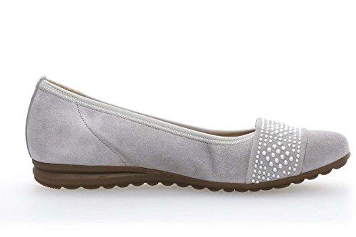 Gabor Bailarinas de Piel Para Mujer Gris Light Grey(Nieten) *