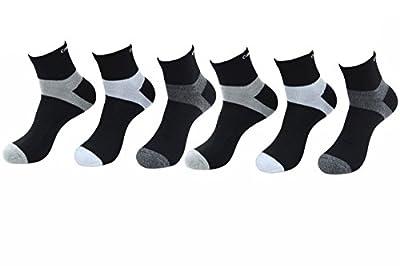 Calvin Klein Men's 6-Pairs Basic Sport Quarter Socks Sz: 7-12 (One Size)
