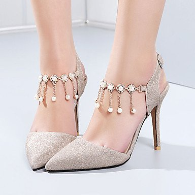 US4 4 Glitter Party 5 Women'S amp;Amp; CN33 UK2 Rhinestone Gold Fall Sandals Silver Spring Office EU34 5 2 Evening Heel Summer amp;Amp; Purple Wedding Light Stiletto Career qRpwIR