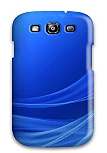 New Arrival Galaxy S3 Case Nice Blue Wavy Case Cover