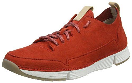 Sneaker Red Tri Clarks Herren Rot Nubuck Spark wPnAqx