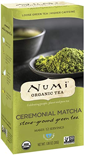 Numi Organic Tea Ceremonial Matcha, 30 Grams per Box (Pack of 6 Boxes) Highest Grade Japanese Matcha Green Tea Powder (Packaging May Vary)