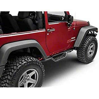 Redrock 4x4 HD Rocker Guards Black for Jeep Wrangler JK 4 Door 2007-2018