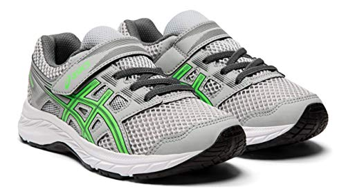 (ASICS Gel Contend 5 PS Kid's Running Shoe, Mid Grey/New Leaf, K13 M US Little)