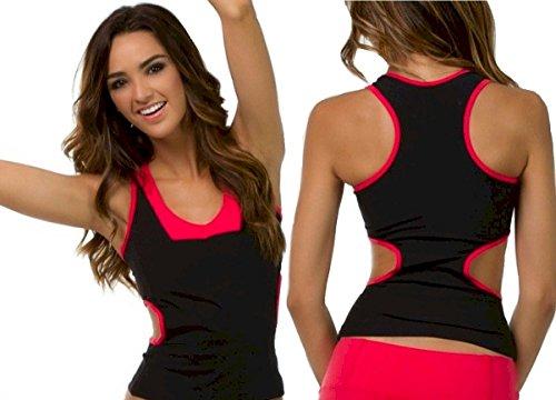 Women Activewear Tank Side Detail Size Small