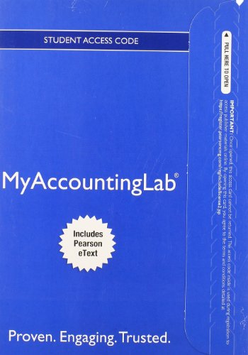 Price comparison product image NEW MyAccountingLab with Pearson eText -- Access Card -- for Managerial Accounting