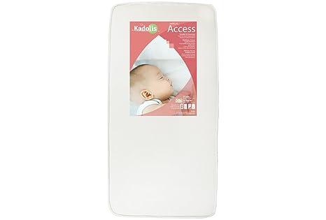 Kadolis Soft Eco MSOE01 - Colchón para cuna, 60 x 120 cm, color blanco