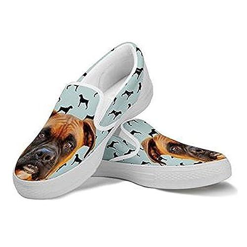 1808db968303b Boxer Dog Print Slip Ons Shoes For Women outlet - holmedalblikk.no