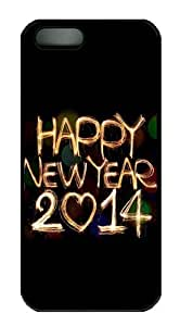 2114 Happy New Year Light Painting Bokeh Polycarbonate Custom Case For HTC One M8 Cover - Black