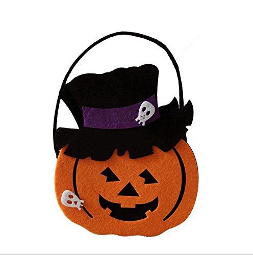 Accesorios para Halloween Bolso de calabaza de mano de los ni?os Regalos no tejidos Bolso de los bolsos del caramelo , Orange 7: Amazon.es: Hogar