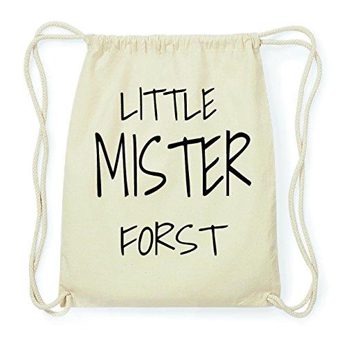 JOllify FORST Hipster Turnbeutel Tasche Rucksack aus Baumwolle - Farbe: natur Design: Little Mister