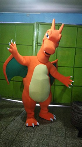 CHARIZARD POKEMON CHARACTER FIRE DRAGON MASCOT COSTUME ADULT SIZE PARTY - Dragon Adult Mascot Costumes