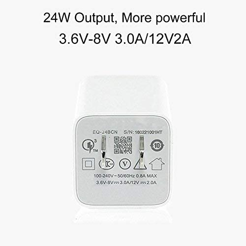 24W USB Charger Block Charging Cube Compatible with Samsung Galaxy S8//S7,Note 9//8,iPhone X//8//7//7Plus LG G5 V10,HTC,Huawei and More HotTopStar 1-Port Quick Charger 3.0 USB Fast Wall Charger One Pack