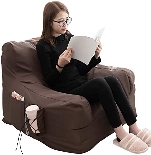 iOCHOW Floor Chair Indoor Outdoor Lounger Chair-Bean Bag Chair Memory Foam Sofa