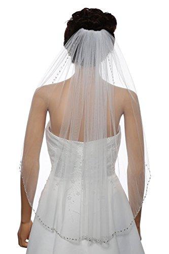 Foreverwedding Womens Length Rhinestone Wedding product image