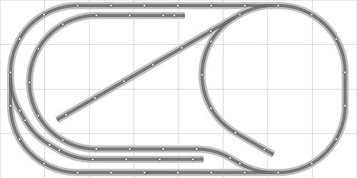 (Layout #031 Bachmann HO EZ Track (NS) Nickel Silver - 4' X 8' NEW - Train Set)