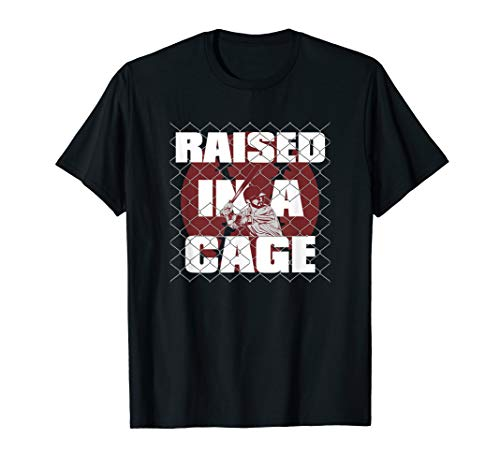 Raised In A Cage Baseball Tee Shirt