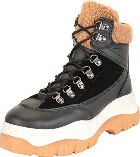 Chunky Platform Hiking Ankle Boot