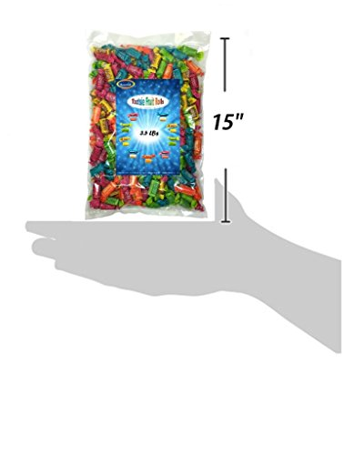 Tootsie chewy Fruit Rolls Assorted Flavors 3.5 Lbs individually wrapped by Medley Hills Farm (Image #2)'
