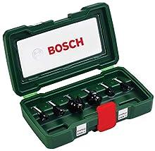 Bosch 2607019463 - Set con 6 fresas con inserción de 8 mm