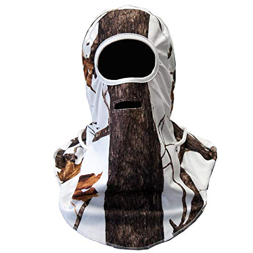 (Wildfowler Outfitter Camo Head/Neck Cover Warmer, One size fits most, Wildtree snow)
