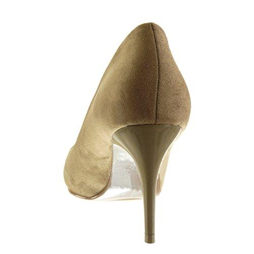Kaki decolleté Femme Escarpin Talon Mode CM Haut Stiletto Angkorly Aiguille 5 Chaussure 8 wRpnIxqWX7