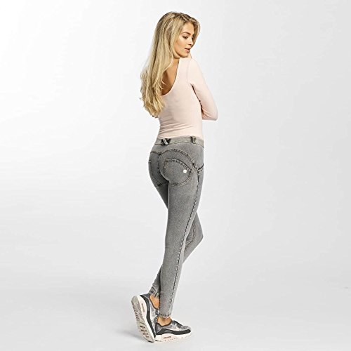 cuciture Grigio Donna Gialle Freddy Lungo jeans Grigio Pantalone Jeans Skinny q4xgpw8