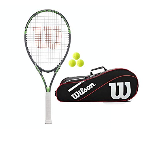 Wilson Tour Slam (Bundle Options) (Silver/Green (Racket + Bag and Balls))