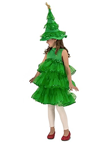 Glitter Christmas Tree Child Costume - Small